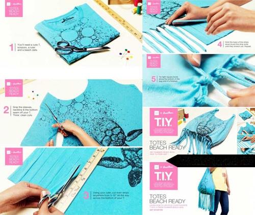 Как сделать сумку из футболки