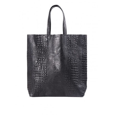 Кожаная черная сумка