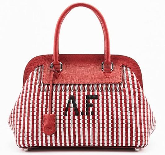 сумка Fendi «Selleria Intrecciato» с инициалами Адель Фенди