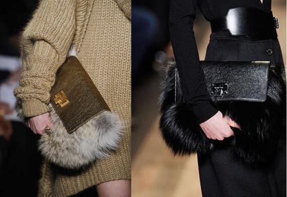 Меховые сумки осень-зима 2013-2014