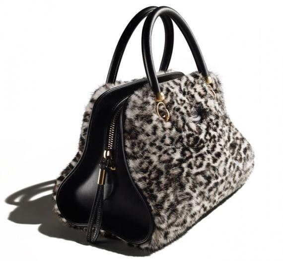 Уникальная сумка Tod's Sella Bag с меховой отделкой