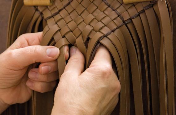 Плетеная сумка из кожи своими руками