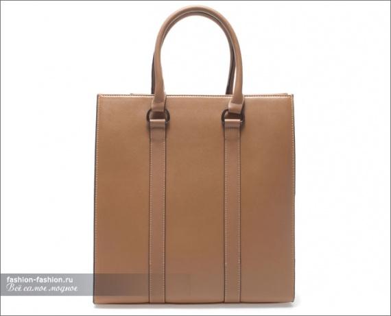 Бежевая сумка-шоппер