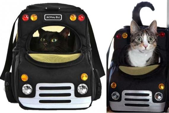 Кошачий 'автомобиль' Mommy Bus - забавная и удобная переноска от Diane